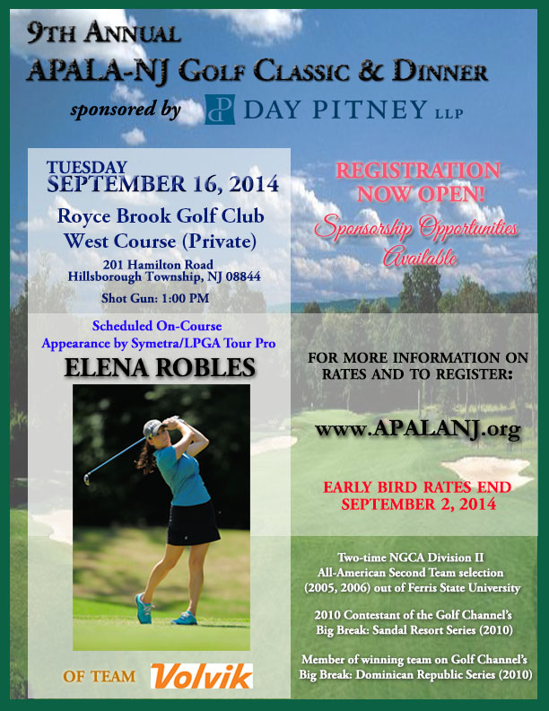 APALA-NJ Golf Outing Flyer 2014